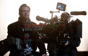 Christopher Nolan directing The Dark Knight Rises