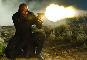 Nick Fury fires gun, The Avengers, part 1