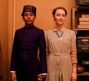 Tony Revolori and Saoirse Ronan in The Grand Budapest Hotel