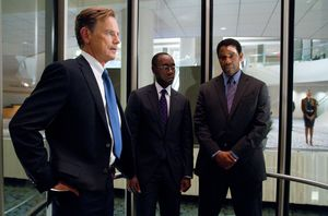 Bruce Greenwood, Don Cheadle and Denzel Washington in elevat