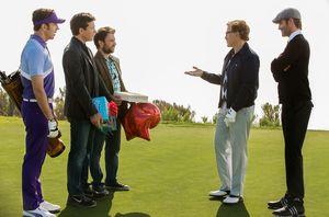 Christoph Waltz and the guys play golf in Horrible Bosses 2