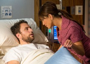 Jennifer Aniston visits Charlie Day in the hospital