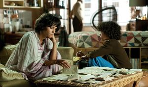 Halle Berry and lots of letters in Cloud Atlas