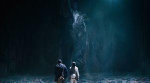 Tom Hanks and Halle Berry find huge statue in Cloud Atlas
