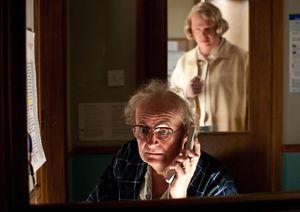 Hugo Weaving as nurse keeping an eye on Jim Broadbent