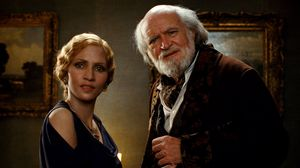 Blond Halle Berry and old Jim Broadbent in Cloud Atlas