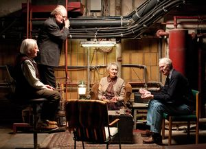 Jim Broadbent and the elderly have a meeting in Cloud Atlas