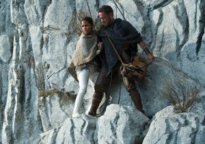 Tom Hanks and Halle Berry scared on white mountain, Cloud At