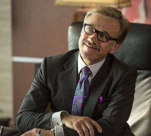 Christoph Waltz as a Horrible Boss with mustache