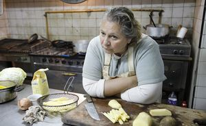 Rita Cortese as the cook in Wild Tales