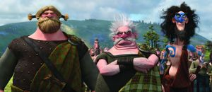 Lord MacGuffin, Lord Dingwall and Lord Macintosh in Brave