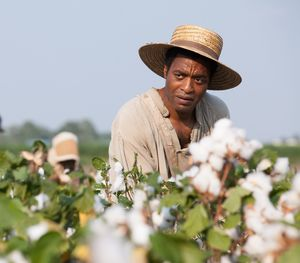 Solomon Northup working on the cotton field