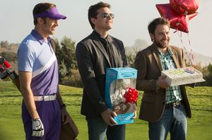 The guys bring gifts to the golf course in Horrible Bosses 2