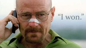 Walter White on the phone -