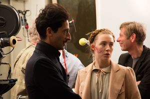 Adrien Brody and Saoirse Ronan behind the scenes of The Gran
