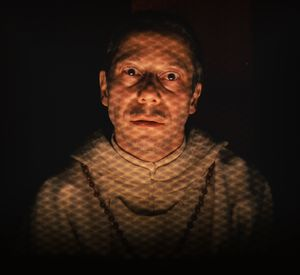 Mathieu Amalric in light as Serge X. - The Grand Budapest Ho
