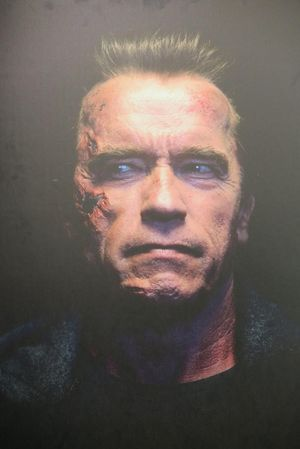 Arnold Schwarzenegger as the Aged T-800 from 'Terminator: