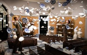 Cups and dishes fly in Cloud Atlas scene