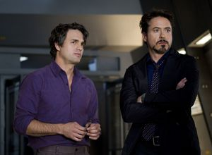Pals Mark Ruffalo and Robert Downey Jr. in the first Avenger