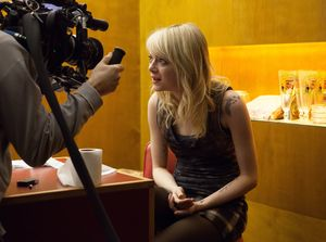 Filming Emma Stone, behind the scenes of Birdman