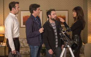 Jennifer Aniston and the boys in Horrible Bosses 2