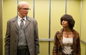 Halle Berry and James D'Arcy as Old Rufus Sixsmith in Cloud