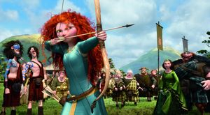 Merida ready to shoot her bow and impress everyone - Brave
