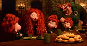 The Triplets at the table in Brave