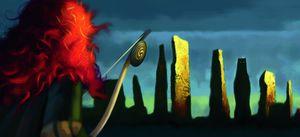 Merida in the dark on the island - Brave artwork