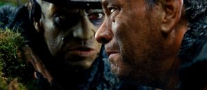 Hugo Weaving scares Tom Hanks in Cloud Atlas