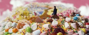 Damon Gameau surrounded by candy