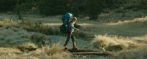 Reese Witherspoon crosses creek in Wild