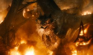 Smaug frontal in the final Hobbit film