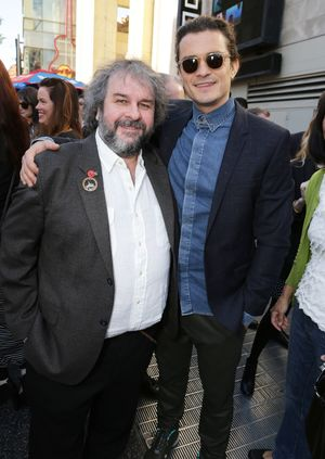 Peter Jackson and Orlando Bloom at his Walk of Fame star eve