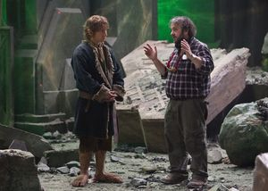 Behind the scenes: Peter Jackson directing Martin Freeman on