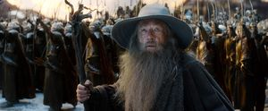 Gandalf and army - The Battle of the Five Armies