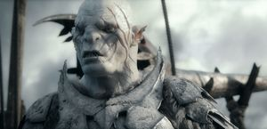 Azog, commander of the Moria orcs - The Battle of the Five A
