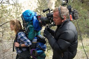 Jean-Marc Vallée filming Reese Witherspoon in Wild