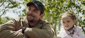 Bradley Cooper and his daughter - American Sniper