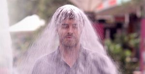 Damon Gameau gets covered in sugar