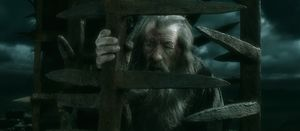 Gandalf imprisoned in The Battle of the Five Armies
