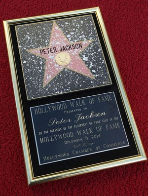 Peter Jackson - Walk of Fame star - December 8, 2014