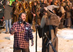 Behind the scenes: Peter Jackson and Ian McKellen on the set