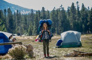 Reese Witherspoon camping in Wild