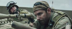 Bradley Cooper taking aim in American Sniper