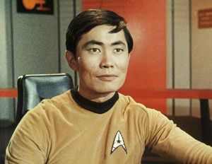 Takei as Hikaru Sulu from the classic Star Trek