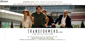 Transformers: Age of Extinction - For Your Consideration