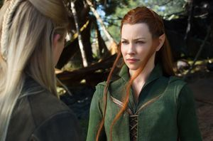 Tariel and Legolas have a chat in The Hobbit: The Battle of