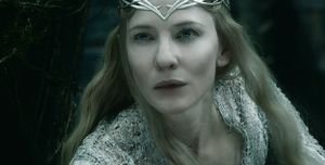Cate Blanchett as Galadriel close-up - The Battle of the Fiv