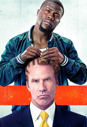 Kevin Hart does Will Ferrell's hair in the Get Hard poster